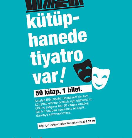Photo of Antalya Şehir Tiyatroları işbirliği ile 'Kütüphanede Tiyatro Var'